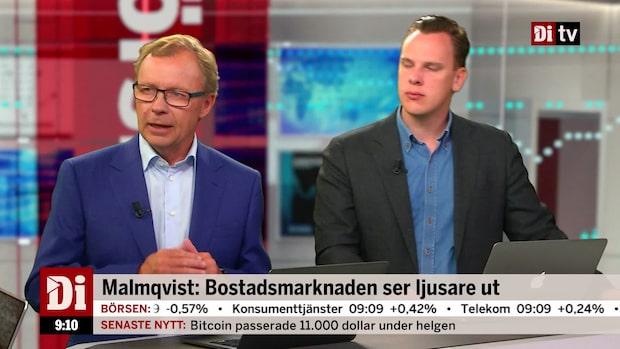 Malmqvist: Ser ljusare ut på bostadsmarknaden