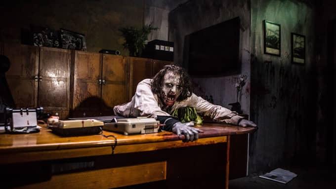 Lisebergs egen bild från skräckhuset som man byggde upp under Halloween i fjol. Foto: Pressbild