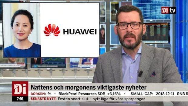 Morgonkoll: Huaweis finanschef kan släppas fri mot borgen