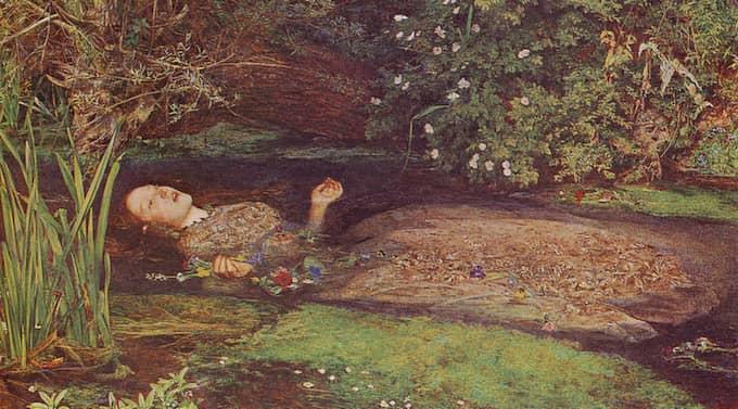 Mellan liv och död. I sin nya bok skriver sig Ann Heberlein frisk. På bilden: John Everett Millais Ofelia från 1851. Bilden är något beskuren.