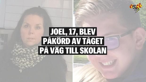 Joel, 17, blev påkörd av tåget på väg till skolan