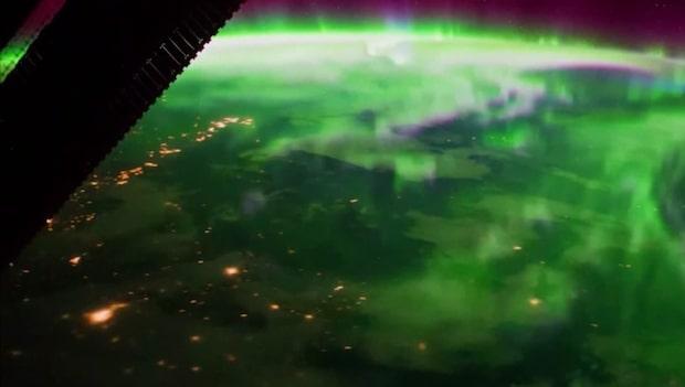 Magiskt norrsken sett från rymden