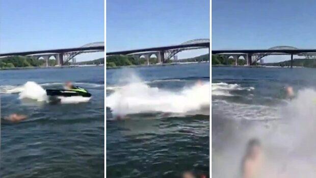 """Jetskiförarens vansinne bland badare: """"Simma!"""""""