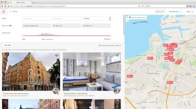 På Airbnb.com kan du hyra semesterboenden världen över av privatpersoner. Men den populära andrahandsuthyrningen har en baksida. Foto: Airbnb.com