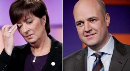 Väljarna gillar Fredrik Reinfeldt (M) sammanlagt har 50 procent av de tillfrågade i en undersökning förtroende för statsministern. Förtroendesiffran är nästan hälften för rivalen Mona Sahlin (S). - Om jag använder det rätt kan jag få en ökad förståelse för vad vi vill med våra reformer. Foto: Olle Sporrong
