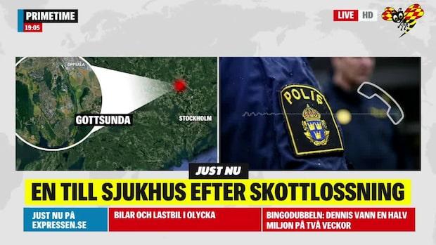 Polisen om misstänkta skottlossningen i Gottsunda