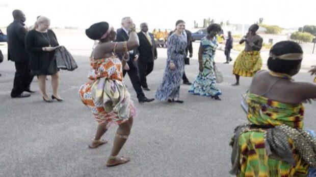 Kronprinsessan på besök i Ghana