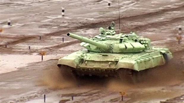Skidskytte med stridsvagn