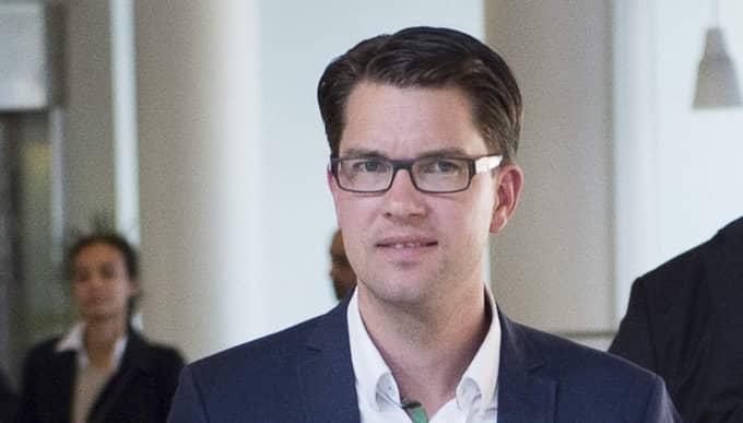 """Stefan Löfven säger att han kan förstå lockelsen i Sverigedemokraterna: """"Jag kan förstå att man kan lockas av det enkla budskapet"""", sade han i P1 Morgon. På bilden syns Jimmie Åkesson, Sverigedemokraternas partiledare. Foto: Sven Lindwall"""