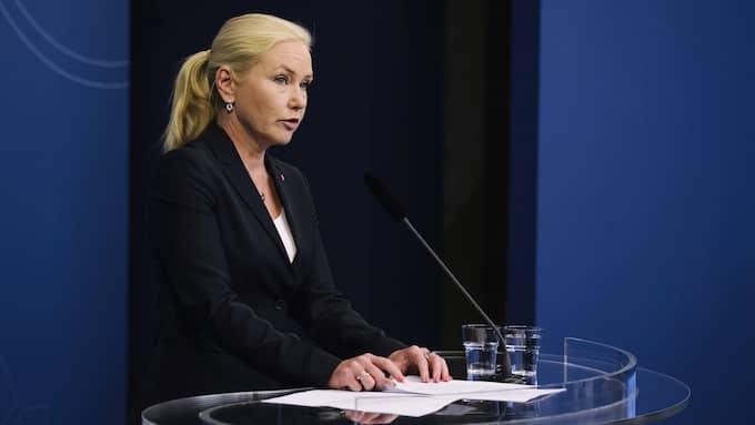 Anna Johansson (S), tidigare infrastrukturminister. Foto: ERIK SIMANDER/TT