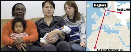 Familjen ska utvisas, men inte till samma länder. Pappan ska till Elfenbenskusten och mamma och barnen ska till Ryssland.
