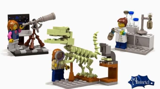 """I sitt förslag skrev Kooijman: """"Mottot för dessa forskare är tydligt: Utforska världen och mer därtill"""", Foto: Lego"""