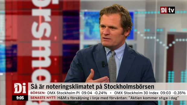 """Kostyal om noteringsklimatet på Stockholmsbörsen: """"Ett intressant år"""""""
