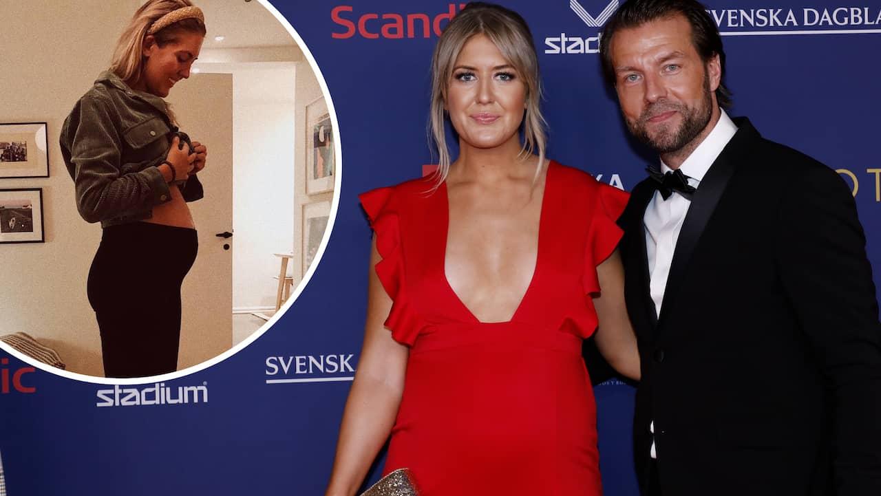 """Klara Svensson gravid: """"Kom som en chock"""""""