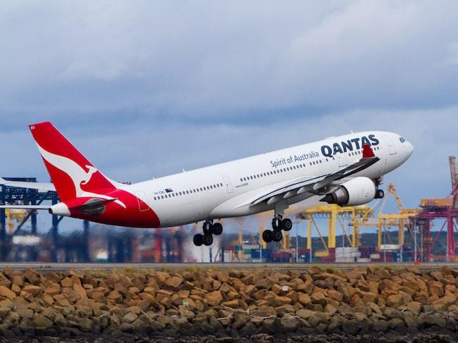 Australiska Qantas kör världens näst mest lönsamma flygrutt.