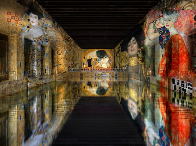 """Digital bild ur kommande utställningen """"Klimt: gold and colour""""."""
