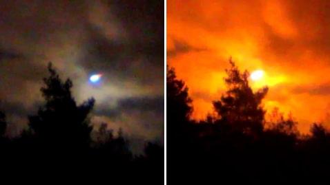 Här lyser okänt ljussken upp himlen i Västsverige
