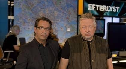 """Nu skriver TT Spektra att Leif GW Persson för diskussioner med SVT om ett nytt program. Här Hasse Aro och Leif GW Persson i studion där """"Efterlyst"""" spelas in. Foto: Ulf Berglund / TV3"""