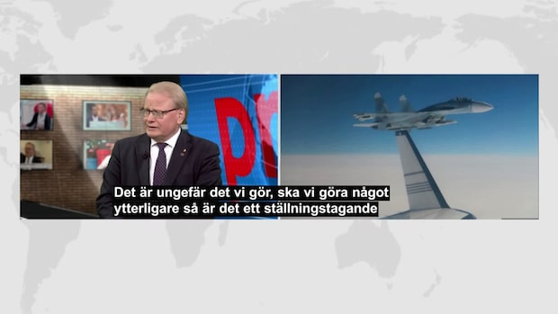 Här flyger ryska jaktplanet 20 meter från svenskt plan