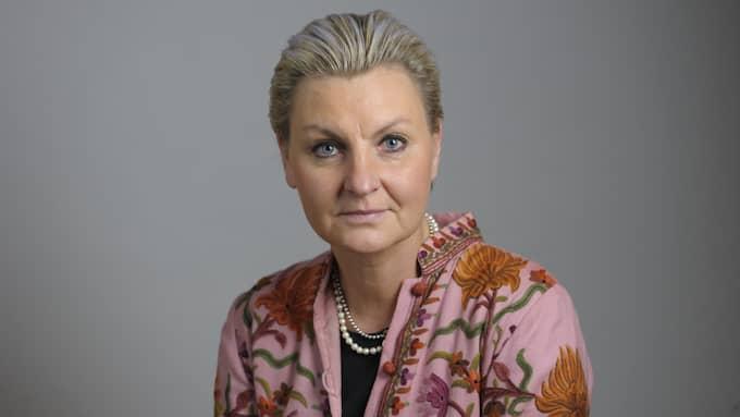 Riksdagsledamoten Maria Abrahamsson (M) konfronterade justitieminister Morgan Johansson (S) om valhemligheten 2015. Ministern lovade att titta närmare på saken. Foto: HENRIK MONTGOMERY / TT / TT NYHETSBYRÅN
