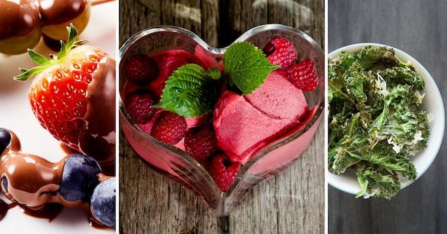Vem har sagt att man behöver äta tråkigt när man vill tänka på hälsan? Här är tips på 7 smarriga och nyttiga snacks och desserter.