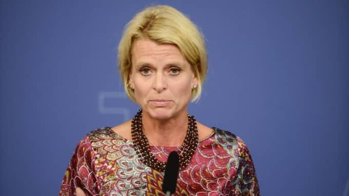 Åsa Regnér är ansvarig minister för tiggerifrågorna. Foto: Vilhelm Stokstad/Tt