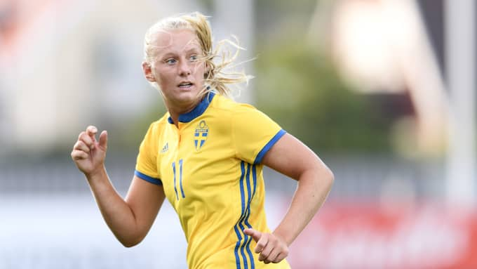 Stina Blackstenius. Foto: CARL SANDIN / BILDBYRÅN