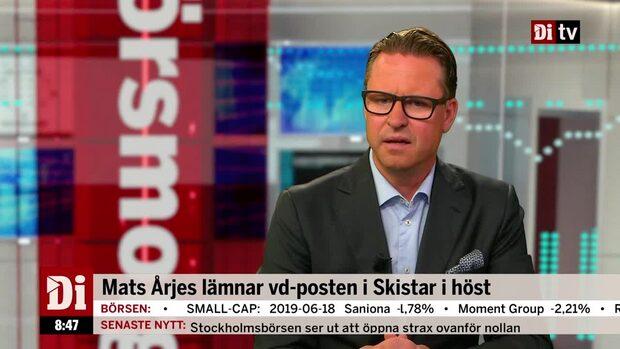 Mats Årjes, vd Skistar, sammanfattar rapporten