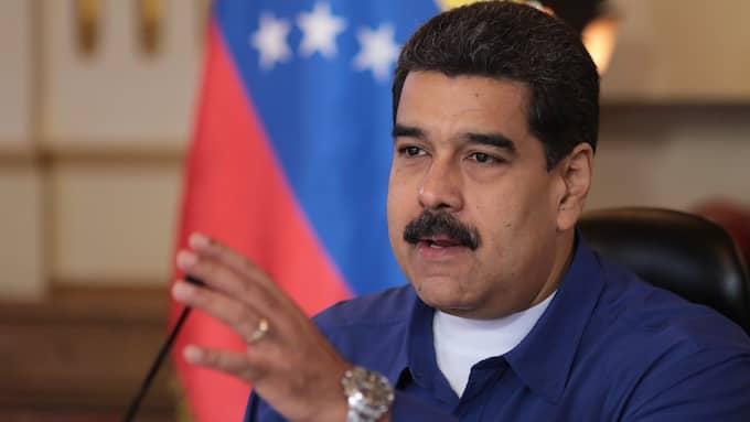Venezuelas president Nicolás Maduro. Foto: MIRAFLORES PALACE/HANDOUT / EPA / TT / EPA TT NYHETSBYRÅN