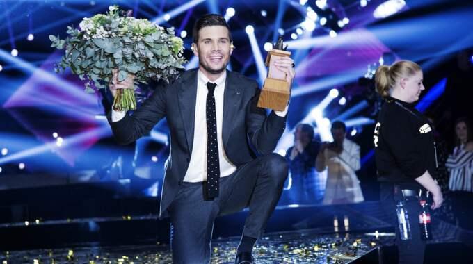 """Robin Bengtsson från Svenljunga vann Melodifestivalen 11 mars med sin låt """"I can't go on"""". Foto: Olle Sporrong"""