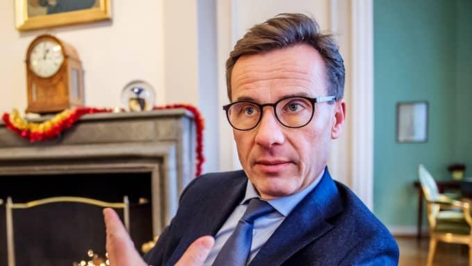 Moderatledaren Ulf Kristersson toppar förtroendelistan för andra månaden i rad, i Expressen/Demoskops mätning. Foto: ANNA-KARIN NILSSON / ANNA-KARIN NILSSON EXPRESSEN