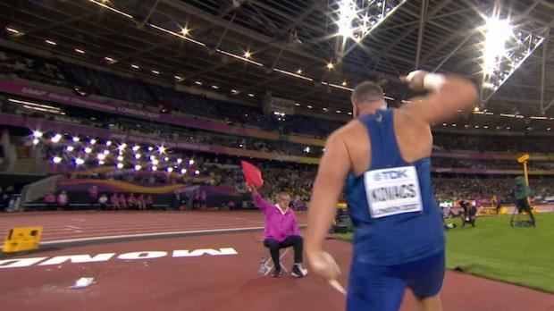 VM-silvermedaljören Kovacs vansinnig på domaren