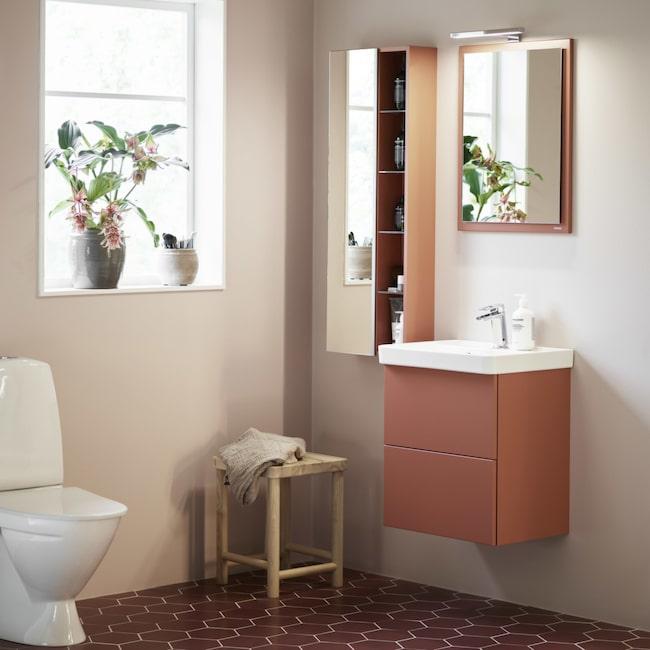<span>Mezzo heter Vedums badrumsmöbel, här i färgen soft persika. Serien finns i olika varianter och storlekar. <br></span>