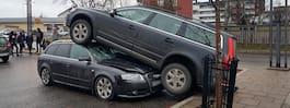 En person förd till sjukhus efter ovanlig olycka