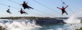 Nu kan du åka zipline över Niagarafallen