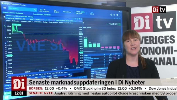 Di Nyheter 12.00: Veoneer ner på rapport
