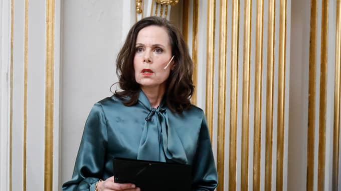 Ständiga sekreteraren Sara Danius. Foto: PATRIK C ÖSTERBERG / IBL BILDBYRÅ