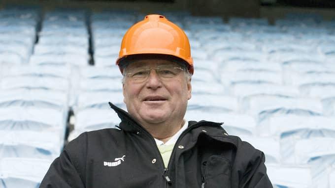 Tillsammans med Bengt Madsen var det Erling Pålsson som genomdrev byggande av Swedbank stadion. Foto: TOMAS LEPRINCE