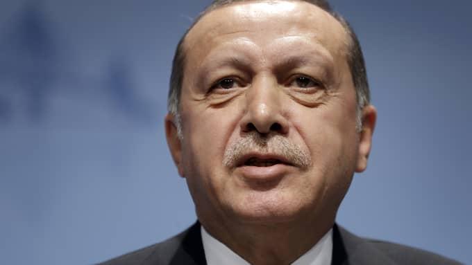 Turkiets president Recep Tayyip Erdogan. Foto: MICHAEL SOHN / AP TT NYHETSBYRÅN