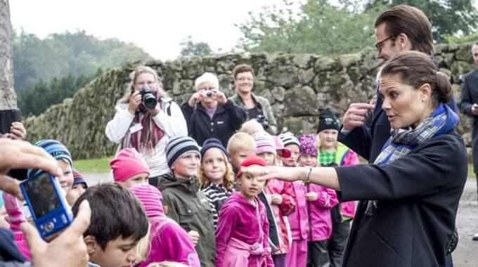 I dag besökte kronprinsessan Voctoria och prins Daniel Östra Göinge. Foto: Tomas Leprince