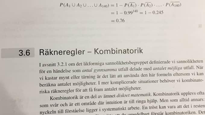"""Författaren Gunnar G Løvås säger att räkneexemplet är """"dåligt och opassande"""", till SVT."""