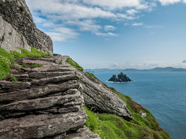 Skellig Michael Island där scener ur Star Wars spelades in
