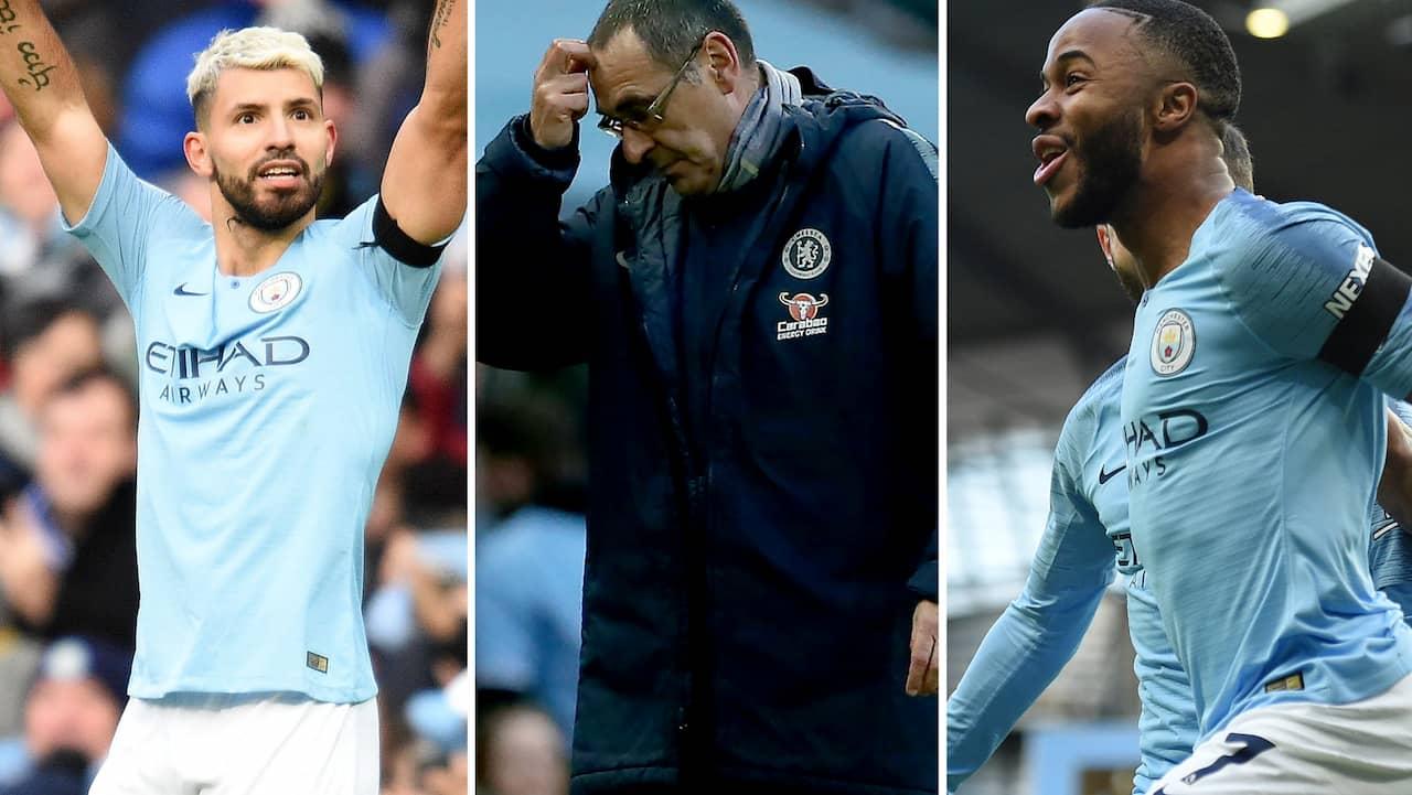 Manchester City - Chelsea: Osannolik miss av Aguero