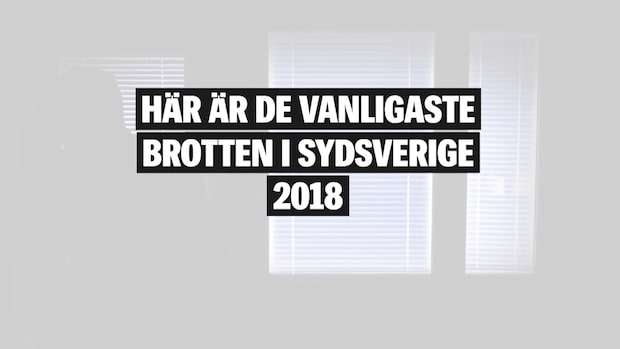 Här är de vanligaste brotten i Sydsverige 2018