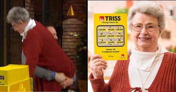"""Mariann Tell, 72, från Spånga kunde knappt förstå vad som hände i morse när hon skrapade fram 2,5 miljoner i """"Nyhetsmorgon"""". Foto: TV4"""