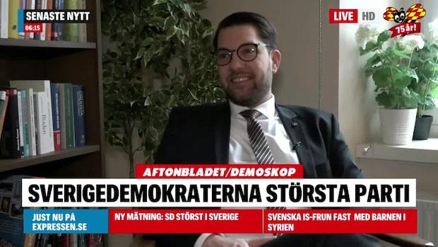 Ny mätning: SD går om S bland väljarna