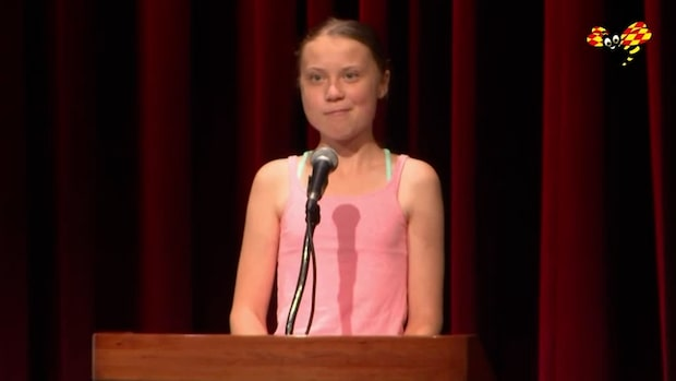 Här prisas Greta Thunberg av Amnesty i Washington