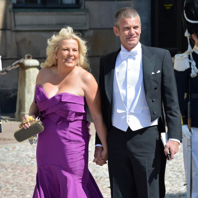 Mia Parnevik med make Jesper.