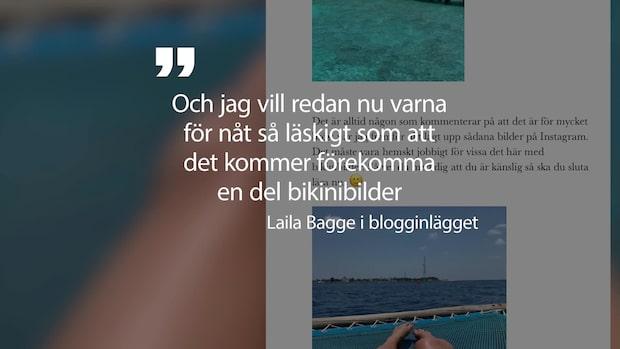 Laila Bagge slår tillbaka mot bikinikritiken