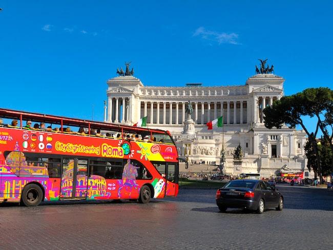 Från 1 januari får inte längre turistbussarna köra i Rom.